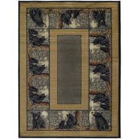"Westfield Home Ridgeland Multicolored Polypropylene Bear Cubs Accent Rug - 3'11"" x 5'3"""