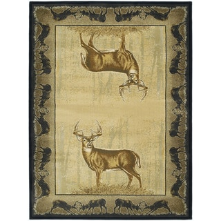 Ridgeland Gazing Deer Runner Rug (1'11 x 7' 4)