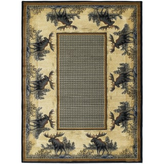 Ridgeland Moose Border Runner Rug (1'11 X 7' 4)