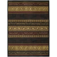 Westfield Home Ridgeland Moose Forest Brown Polypropylene Runner Rug - 1'11 x 7'6
