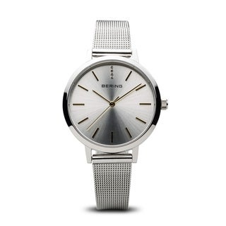 Bering Women's Classic Stainless Steel Milanese Mesh Watch 13434-001