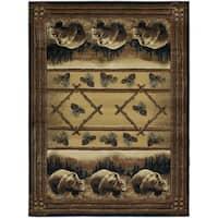 Westfield Home Ridgeland Pine Bears Multicolor Polypropylene Accent Rug - 1'10 x 3'1