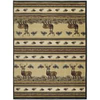 Westfield Home Ridgeland Deer Meadows Multicolor Polypropylene Accent Rug - 1'10 x 3'1