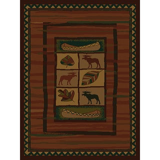 Westfield Home Ridgeland Moose Lodge Polypropylene Runner Rug (1'11 x 7'4)