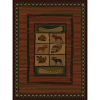 "Westfield Home Ridgeland Moose Lodge Polypropylene Runner Rug - 1'11"" x 7'6"""