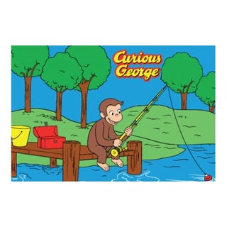 Fun Rugs Home Indoor Multi Color George Fishing Rug (1'7  x 2'5 )
