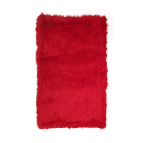 Fun Rugs Home Indoor/ Outdoor Red Color Rug - 2'7 x 3'11