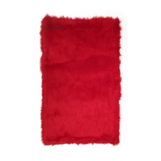 Fun Rugs Home Indoor/ Outdoor Red Color Rug (2'7  x 3'11 )