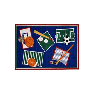 Fun Rugs Home Indoor/ Outdoor Sports A Rama (3'3  x 4'10 )