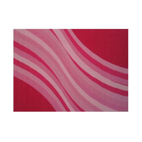 Fun Rugs Home Indoor/ Outdoor Wacky Pink Wave Rug - multi