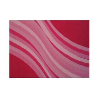 Fun Rugs Home Indoor/ Outdoor Wacky Pink Wave Rug (1'7  x 2'5 )