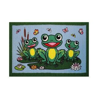 Fun Rugs Home Indoor/ Outdoor Frogs Rug (1'7  x 2'5 )