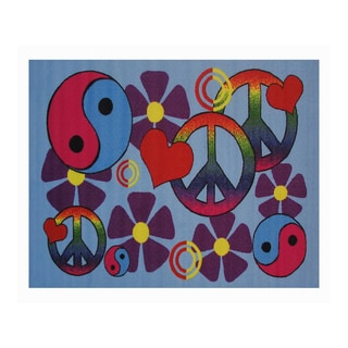 Fun Rugs Home Indoor/ Outdoor Lovely Peace Rug (1'7  x 2'5 )