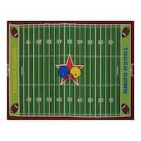 Fun Rugs Home Indoor/ Outdoor Football Field Rug (3'3  x 4'10 )