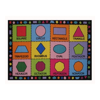 Fun Rugs Home Indoor/ Outdoor Shapes Rug  (3'3  x 4'10 )
