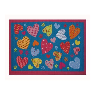 Fun Rugs Home Indoor Hearts(1'7  x 2'5 )