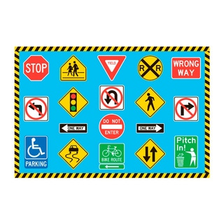 Fun Rugs Home Indoor Traffic Signs Rug (3'3  x 4'10 )
