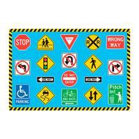 Fun Rugs Home Indoor Traffic Signs Rug