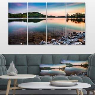 Designart 'Lake Allatoona at Red Top Mountain' Large Seashore Canvas Artwork Print