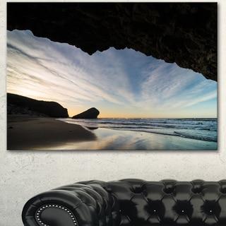 Designart 'Monsul Beach during Sunset' Large Seashore Canvas Artwork Print