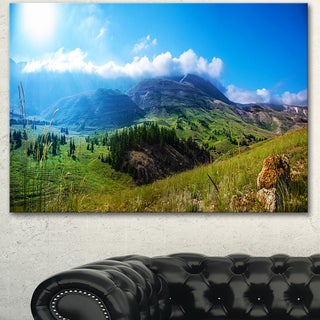 Designart 'Mountain Landscape Panorama' Landscape Artwork Canvas Print