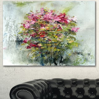 Designart 'Bouquets Of Roses Painting Art' Floral Canvas Artwork - Green