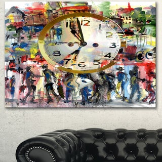 Designart 'People and Time Acrylic Watercolor' Large Abstract Canvas Artwork (5 options available)