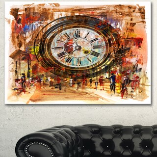 Designart 'People and Time Acrylic Painting' Large Abstract Canvas Artwork
