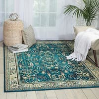 Nourison Aria Teal Area Rug (7'10 x 10')