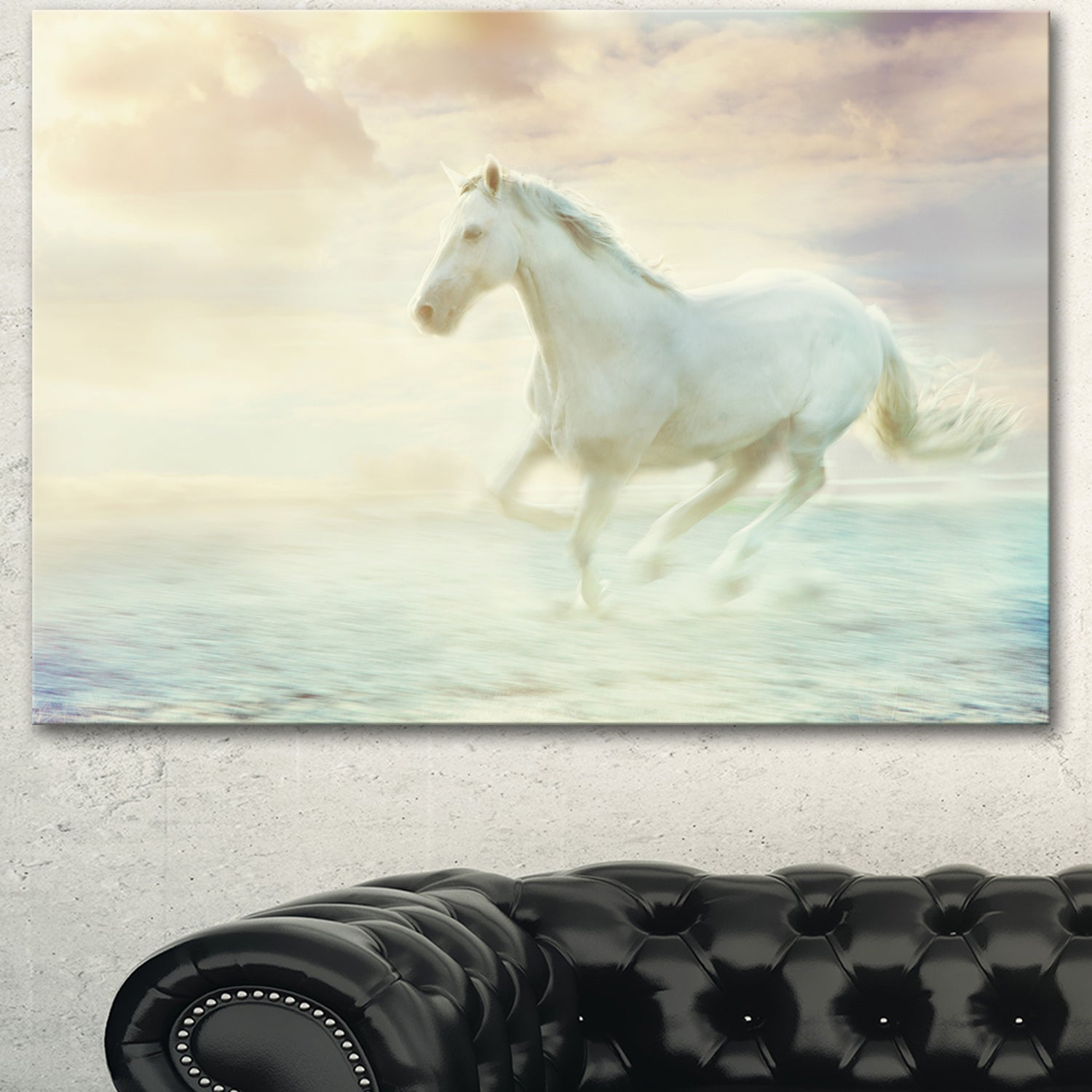 Designart Fantasy White Horse Modern Animal Canvas Wall Artwork Print On Sale Overstock 13177473