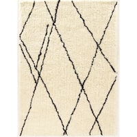 Tufted Morocco Shag Markesh ivory Polyester Rug  (2' X 8')