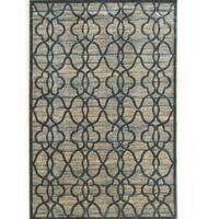 PowerLoomed Platinum Raw Iron  Blue Cream Polyester Rug (2' X 3')