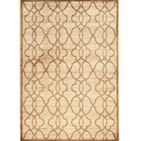 PowerLoomed Platinum Raw Iron Beige Cream Polyester Rug (2' X3')