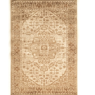 PowerLoomed Platinum Heriz Beige Cream Polyester Rug (2' X 3')