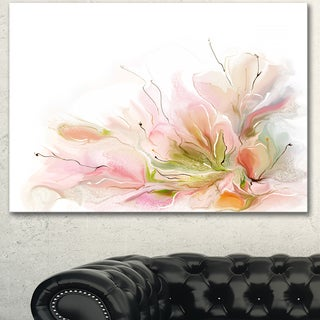 Designart 'Floral Abstract Design on White' Extra Large Floral Wall Art