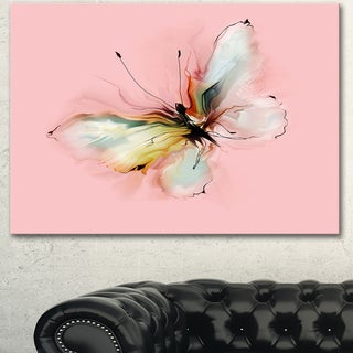 Designart 'Colorful Butterfly Drawing' Extra Large Floral Wall Art