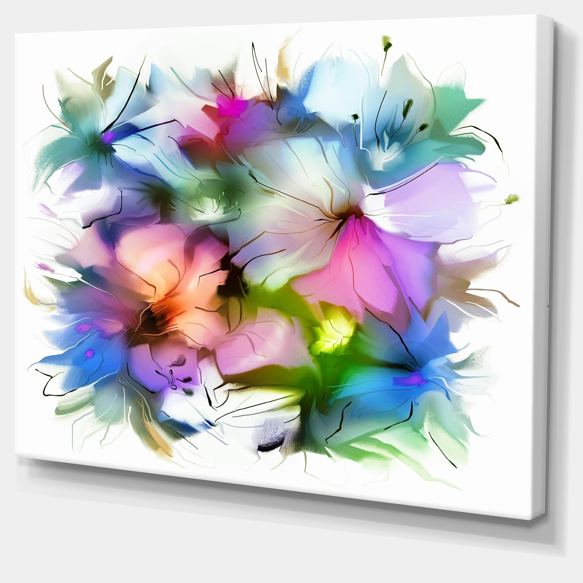 Shop Designart Watercolor Floral Bouquet Extra Large Floral Wall