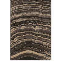 PowerLoomed Masters MR20 Xylem Brown Polypropylene Rug (2' X 3')