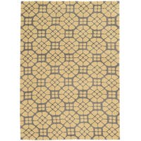 Tufted GEO 09 GREY/BUTTER Polyester Rug (2' X 3')