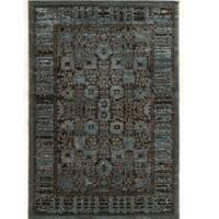 PowerLoomed Platinum Isphahan Blue Black Polyester Rug (8' X 11')