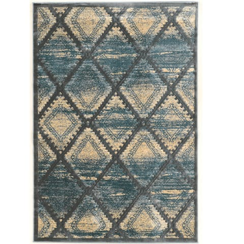 Linon Platinum Collection Santa Fe Rug Overstock Exclusive