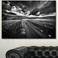 Designart 'Black White Landscape from Sardinia' Landscape Wall Artwork Canvas