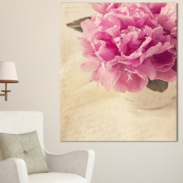Shop Designart Peony Flowers In Vase On Table Floral Canvas