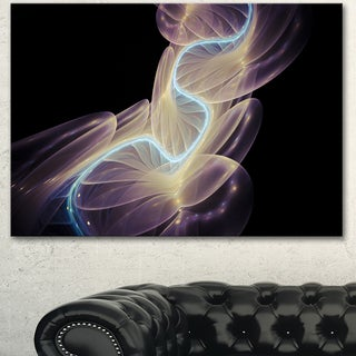 Designart 'Elegant Fantasy Fractal Design' Abstract Canvas Wall Art Print
