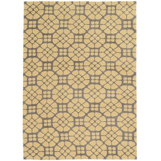 Tufted GEO 09 GREY/BUTTER Polyester Rug (8' X 10')