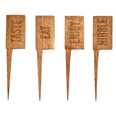 Country Home: Wooden Cheese Markers