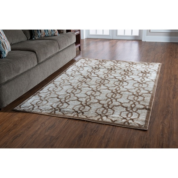 PowerLoomed Platinum Raw Iron Polyester Rug. Opens flyout.
