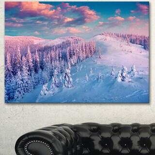 Designart 'Fantastic Sunrise over the Carpathians' Large Landscape Art Canvas Print