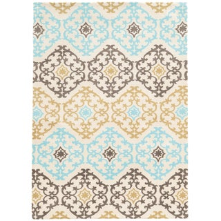 Tufted GEO 01 GREY/YELLOW Polyester Rug