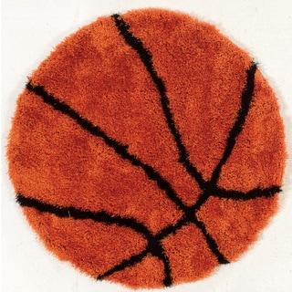 "Hand Tufted Basketball Rug Polyester Rug (44"" Round)"